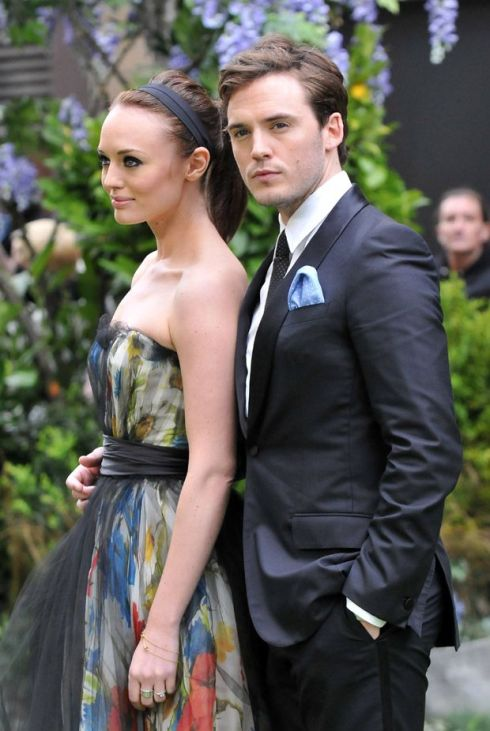 Sam Claflin and Laura Haddock are a pretty pair, aren't they?