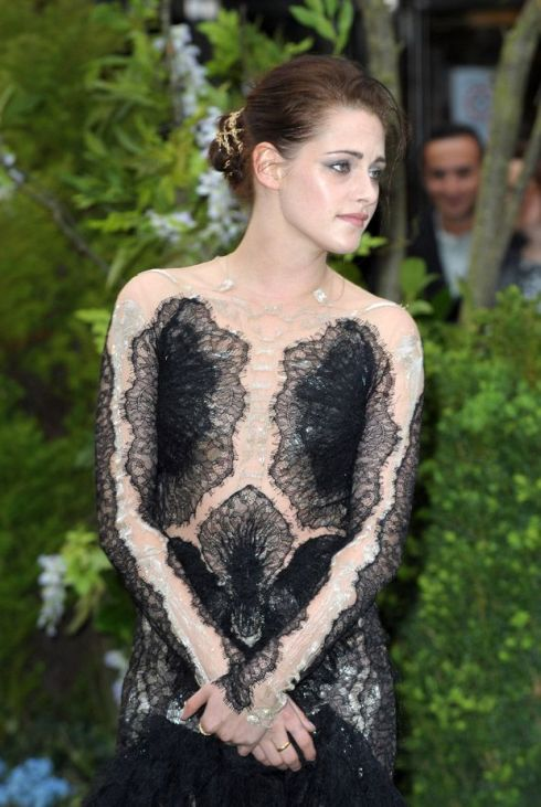 Yeah, we're not so sure about Kristen attempt at the whole see through, sheer thing