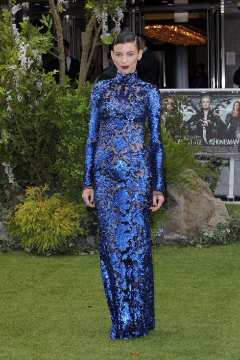 Liberty Ross also went for a see through dress